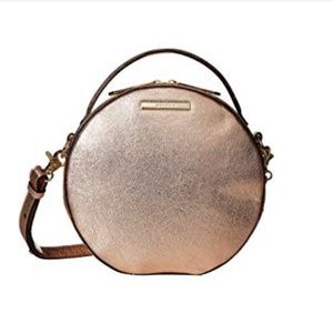 Brahmin Lane Moonlit Rose Gold leather crossbody